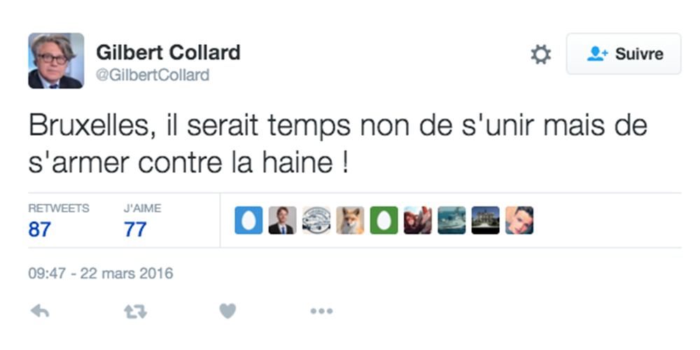 tweet gilbert collard 22 03 16